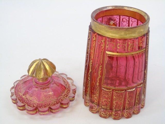Antique 19th C Moser Style Bohemian Glass Tankard