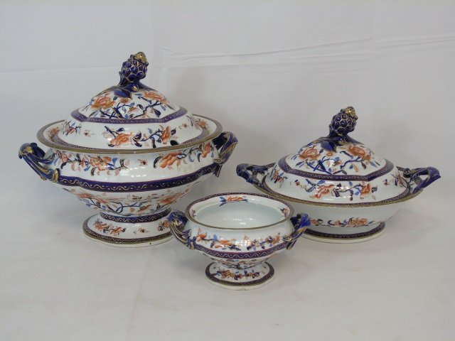 Antique Early Spode Imari Serving Pieces Mark 145