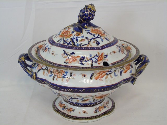 Antique Early Spode Imari Serving Pieces Mark 145 - 3