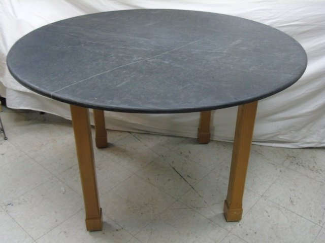 Contemporary Slate Topped Round Kitchen Table