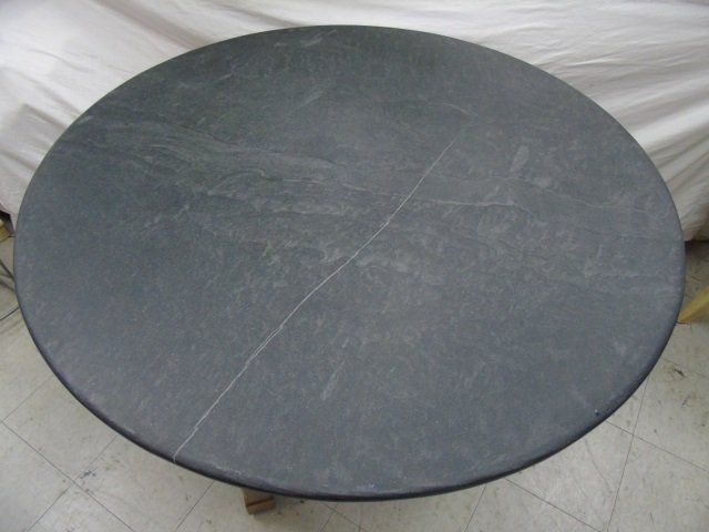 Contemporary Slate Topped Round Kitchen Table - 2
