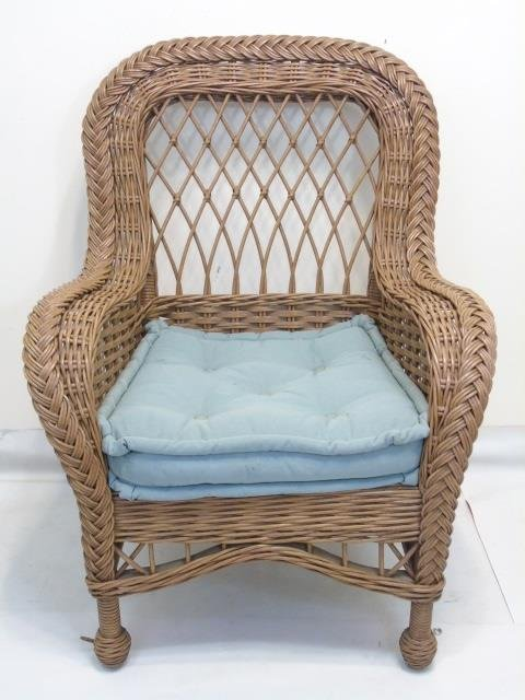 Set of 6 Bent Wood / Wicker Armchairs w Cushions - 3