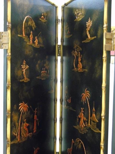Large Contemporary 4 Panel Chinese Screen w Bamboo - 2