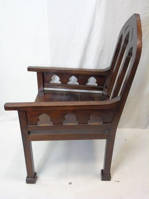 Large Mahogany Ecclesiastical Bishop's Altar Chair - 2