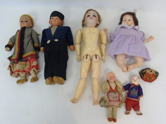 Antique & Vintage Group of German / French Dolls