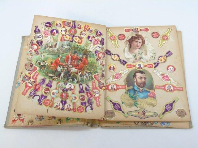 Antique 19th C Victorian Cigar Theme Scrap Book