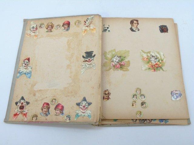 Antique 19th C Victorian Cigar Theme Scrap Book - 3