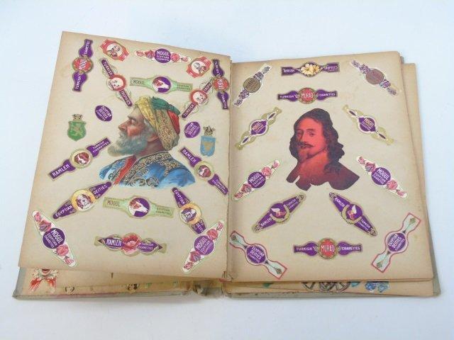 Antique 19th C Victorian Cigar Theme Scrap Book - 4