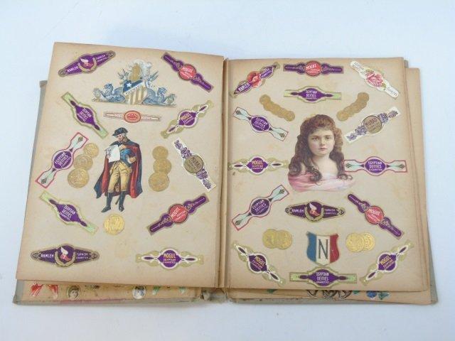 Antique 19th C Victorian Cigar Theme Scrap Book - 5