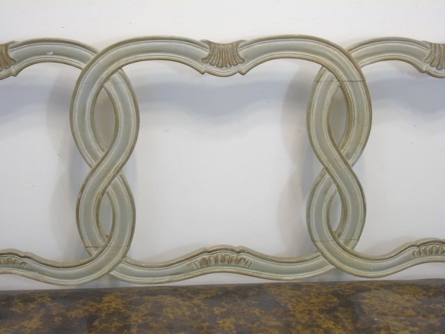 Antique Italian Style Carved Frame Bench / Settee - 3