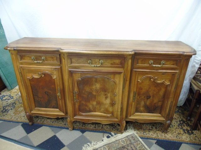 Large French Carved Maple Side Board Buffet