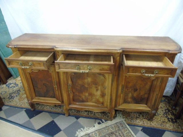 Large French Carved Maple Side Board Buffet - 4