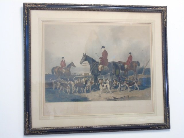 Two Well Framed Prints Antique Fox Hunt & Lioness - 3