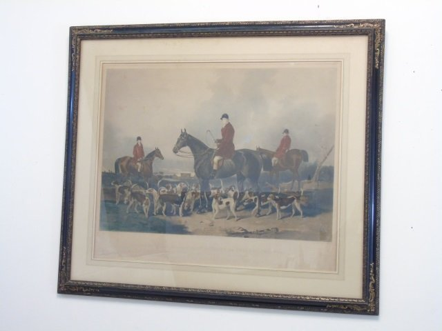 Two Well Framed Prints Antique Fox Hunt & Lioness - 4