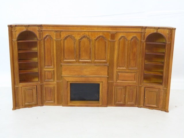 Besbaq Dollhouse Miniature Library Bookcase