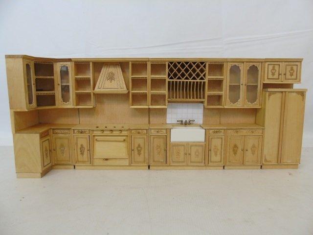 Contemporary Dollhouse Miniature Kitchen Set