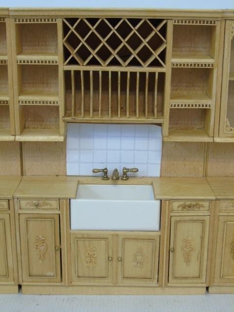 Contemporary Dollhouse Miniature Kitchen Set - 2
