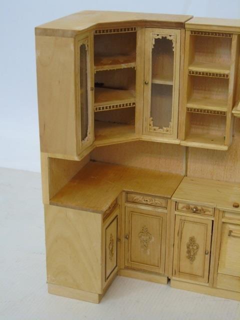 Contemporary Dollhouse Miniature Kitchen Set - 3