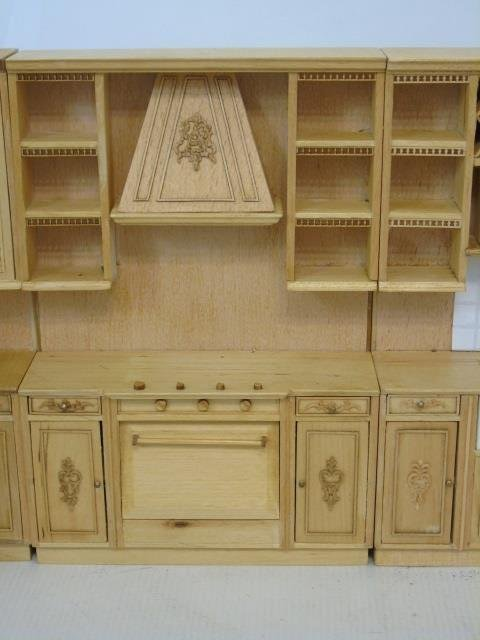 Contemporary Dollhouse Miniature Kitchen Set - 4