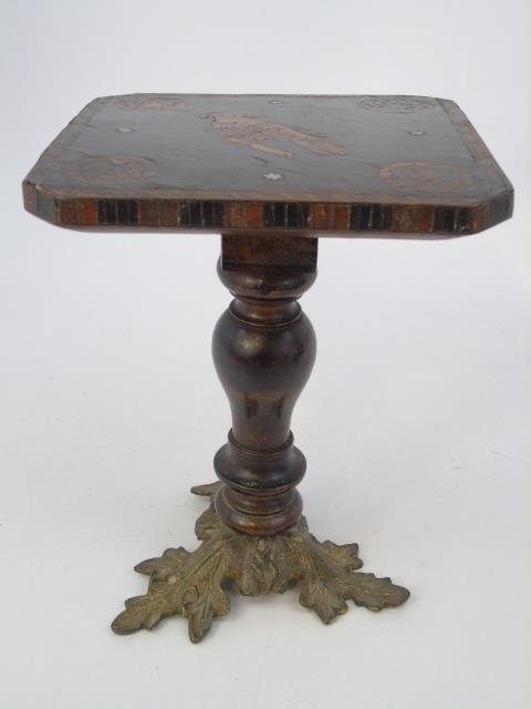 Antique 19th C Salesman Sample Tilt Top Table - 3
