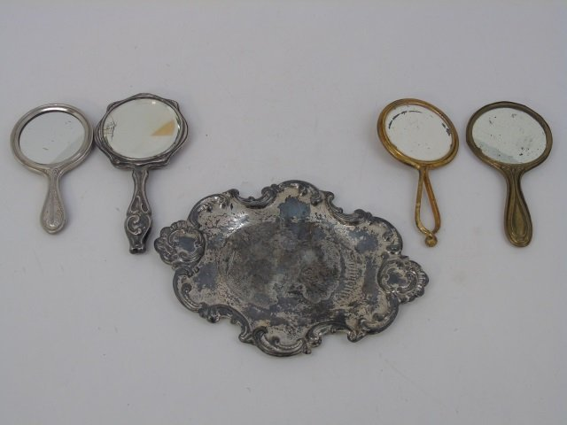 Collection Antique Doll / Child Size Hand Mirrors