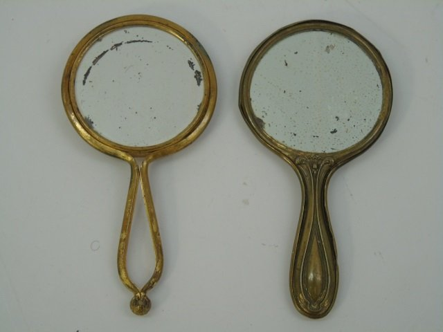 Collection Antique Doll / Child Size Hand Mirrors - 2