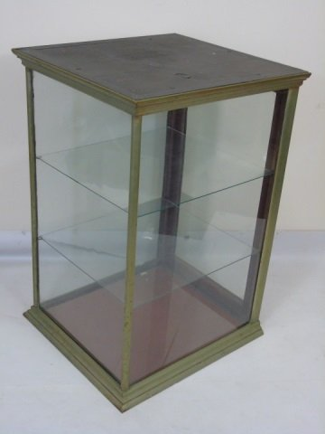 Antique American Glass Store Counter Display Case