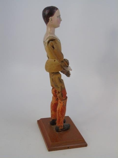Antique Hand Carved Jointed Wood Santos Figure - 4