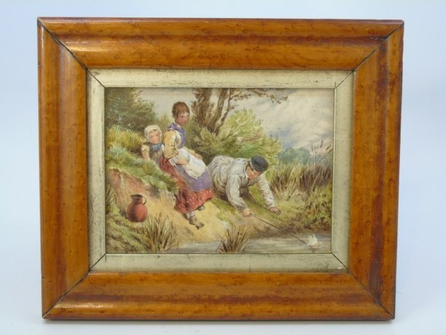 Antique 19th C American School Oil Painting