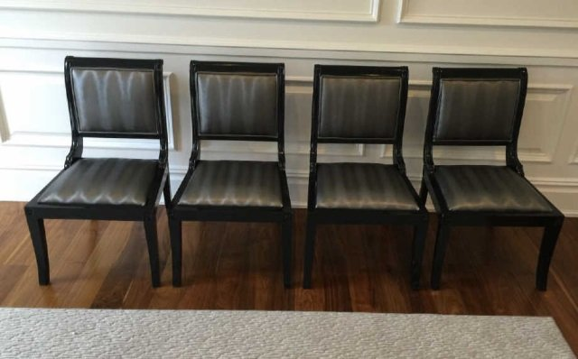 Set of Custom Contemporary Dining Room Chairs - 2