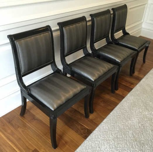 Set of Custom Contemporary Dining Room Chairs - 3