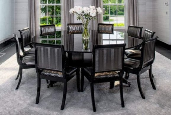Set of Custom Contemporary Dining Room Chairs - 8
