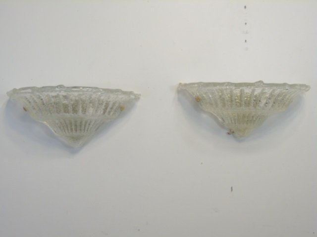 Pair Murano Glass Modern Wall Sconces