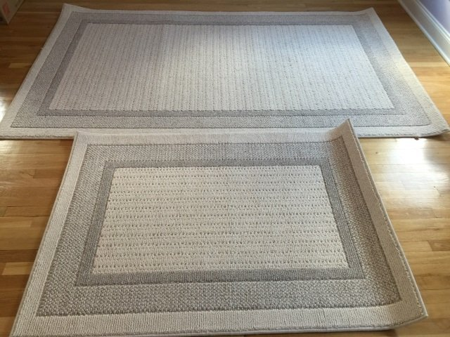 Two Contemporary Textured Carpets from LL Bean