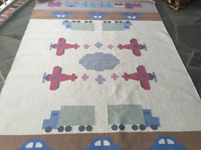 Southwest Style Car Motif Carpet / Throw Rug - 2