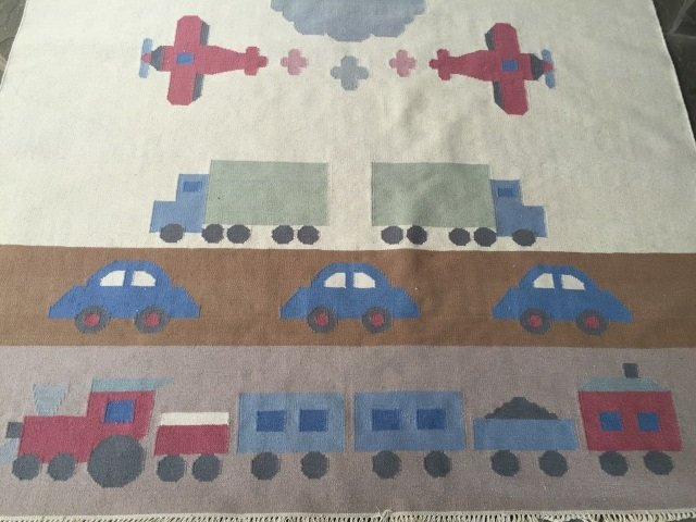 Southwest Style Car Motif Carpet / Throw Rug - 3