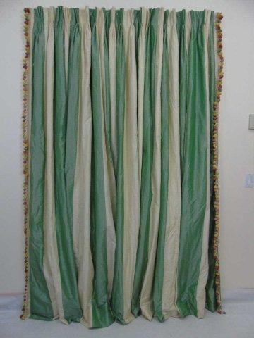 Custom Made Zuber Paris Striped Silk Curtain