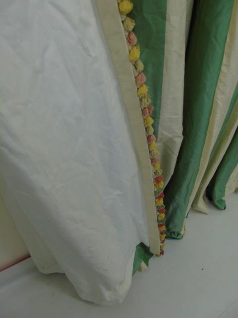 Custom Made Zuber Paris Striped Silk Curtain - 2