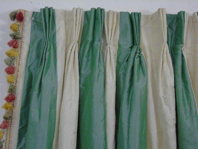 Custom Made Zuber Paris Striped Silk Curtain - 3
