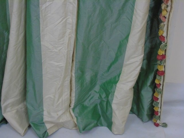 Custom Made Zuber Paris Striped Silk Curtain - 4