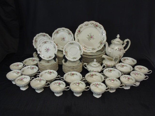 66 Piece Rosenthal Antoinette Porcelain Dinner Set