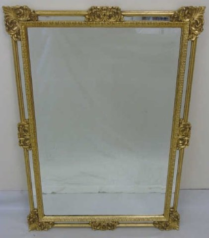 Vintage Italian Hand Carved Gold Leaf Mirror