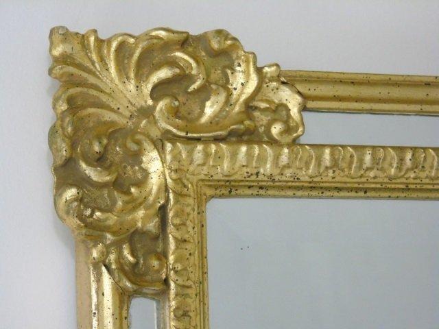 Vintage Italian Hand Carved Gold Leaf Mirror - 2
