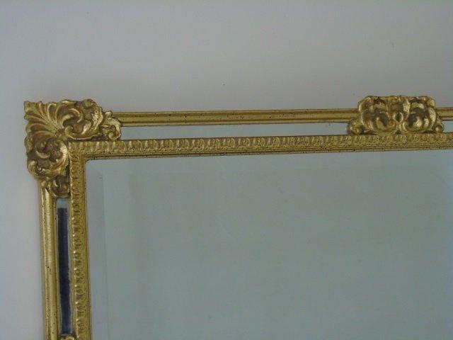 Vintage Italian Hand Carved Gold Leaf Mirror - 3