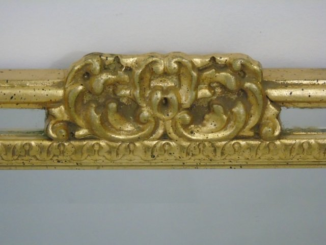 Vintage Italian Hand Carved Gold Leaf Mirror - 4
