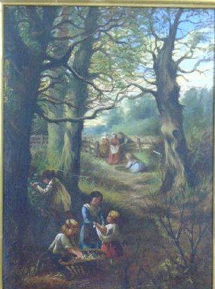 Antique 19th C Framed Continental Oil Painting - 2