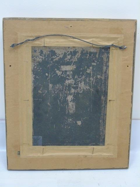 Antique 19th C Framed Continental Oil Painting - 6