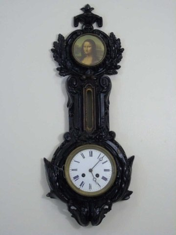 Antique Wrought Iron Victorian Banjo Wall Clock