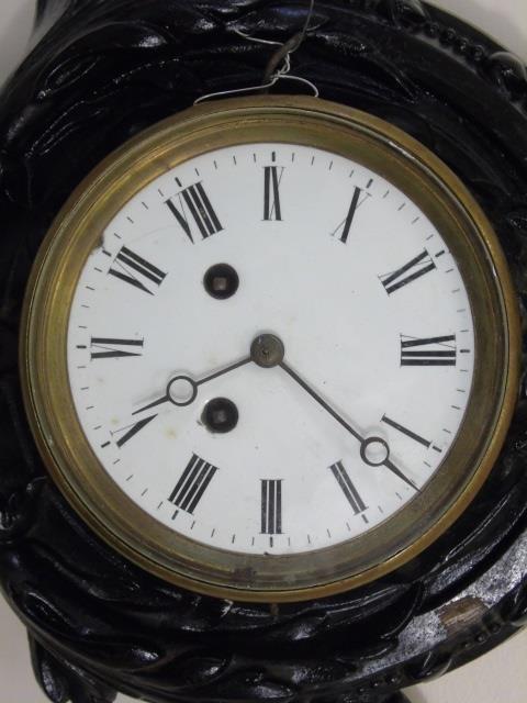 Antique Wrought Iron Victorian Banjo Wall Clock - 5