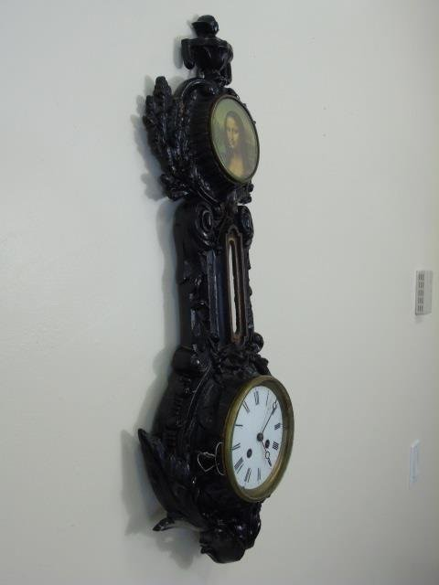 Antique Wrought Iron Victorian Banjo Wall Clock - 6